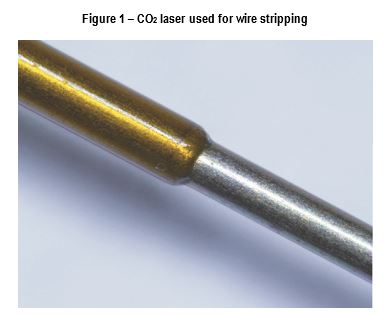 Figure 1- CO2 laser used for wire stripping