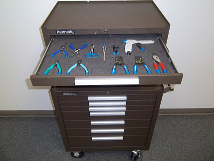 Toolbox with foam inserts